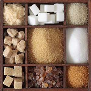 Sugars Cubes Powders in a Box