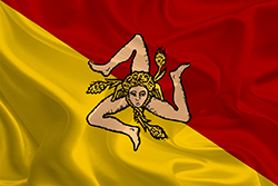 Trinacria Sicily Flag Small