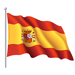 Spain Flag Waving