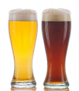 Pilsner and Dark Ale small Pint Glasses