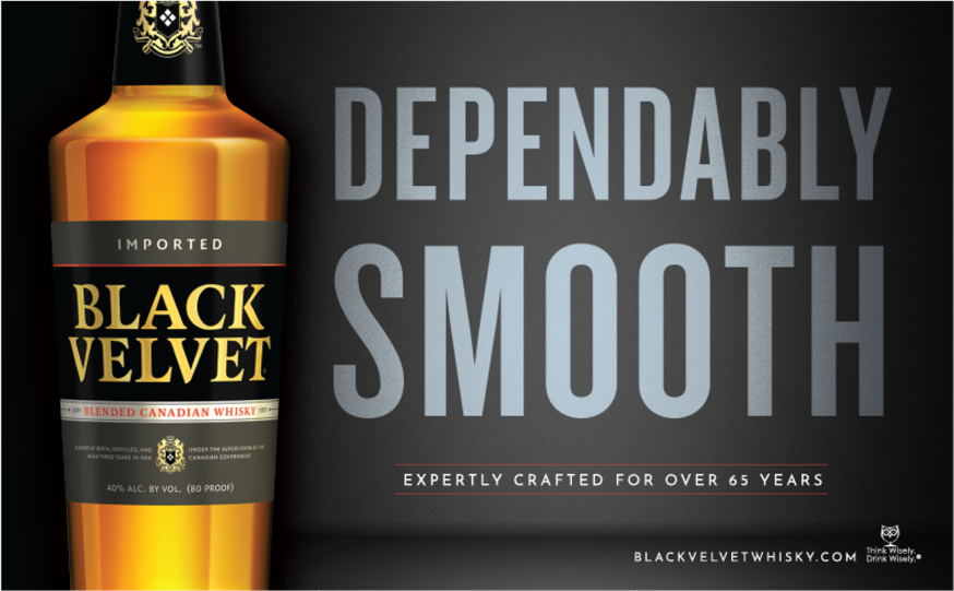 Black Velvet Canadian Whiskey - Dependably Smooth Banner