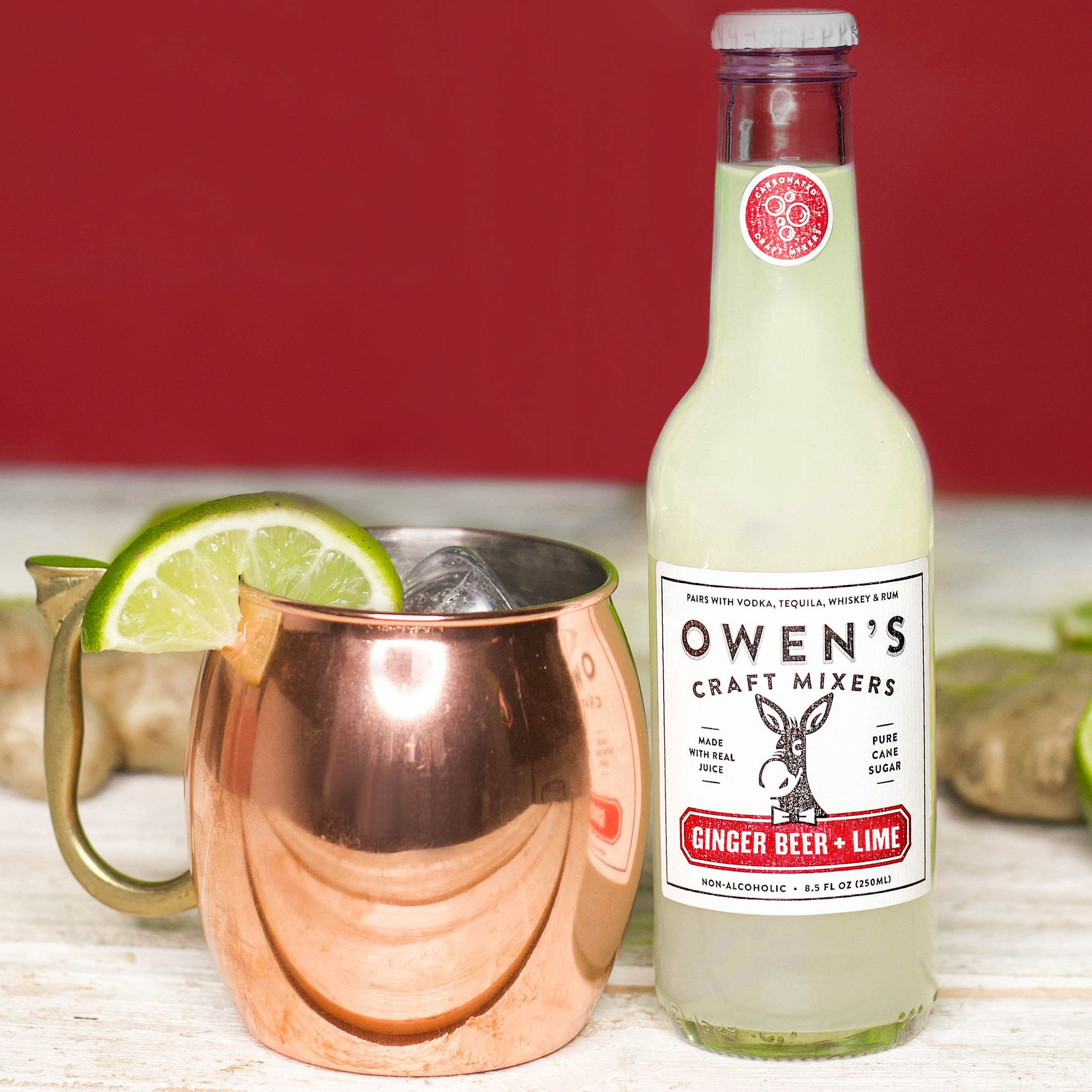 Owen's Craft Mixers - Ginger Beer + Lime
