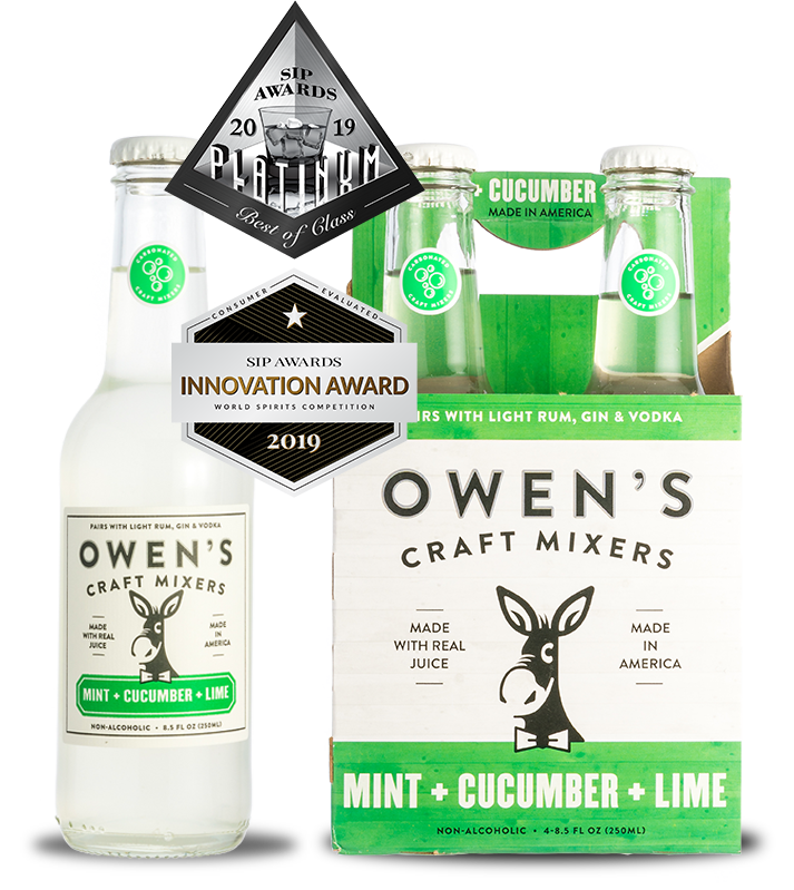 Owen's Craft Mixers - Mint + Cucumber + Lime